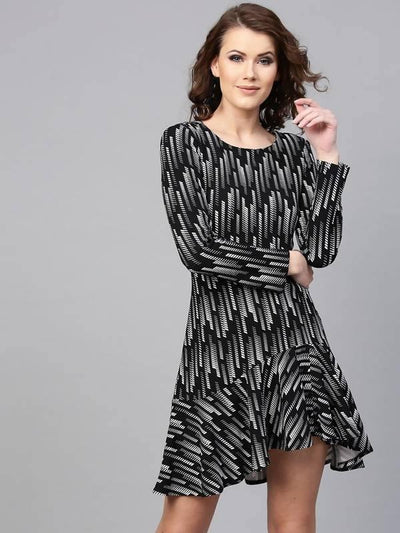 Women's Astrix Print Knitted Dress - MANERAA