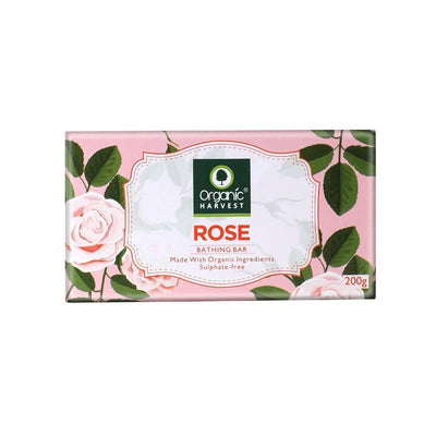 Organic Harvest Rose Bathing Bar, 200g - MANERAA