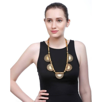 Alloy Necklace Artificial Fashion Jewellery For Women Gold Color - MANERAA