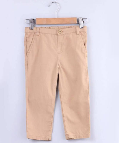 Beebay Tan Beige Chino Trousers - MANERAA