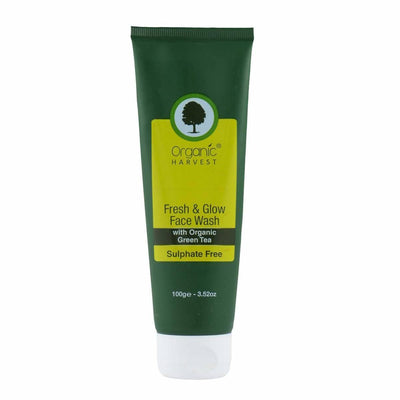 Organic Harvest Face Wash - Fresh & Glow (Sulphate Free), 100g - MANERAA