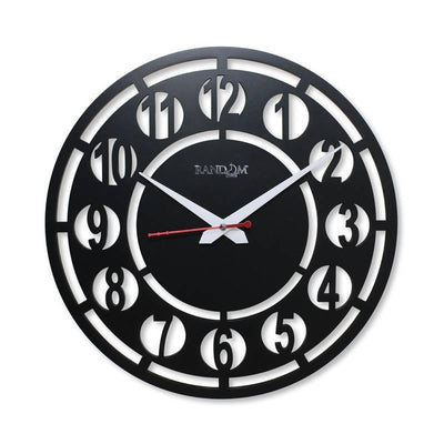 Random Visible Wooden Designer Wall Clock - MANERAA