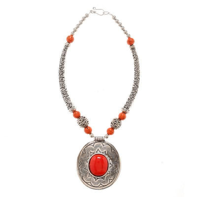 Alloy Necklace Artificial Fashion Jewellery For Women Silver Color - MANERAA
