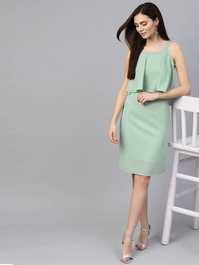 Women's Dotted Flared Dress - MANERAA