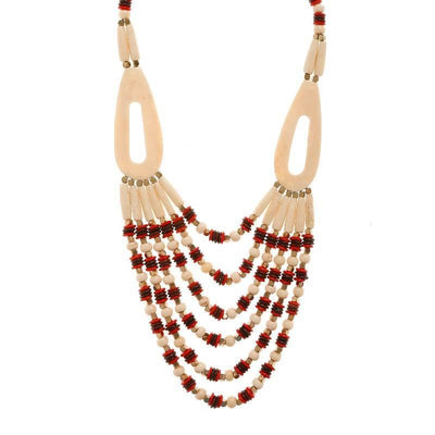 Raisin And Wood Necklace Artificial Fashion Jewellery For Women Multi Color - MANERAA