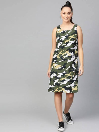 Women's Women's Military Tank Dress - MANERAA