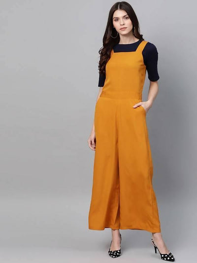 Women's Solid Jumpsuit With Inner - MANERAA