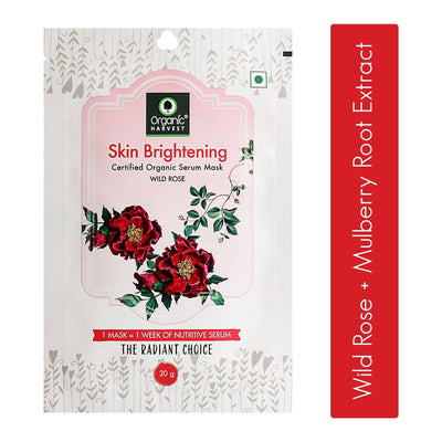 Organic Harvest Skin Brightening Face Sheet Mask, 20g - MANERAA