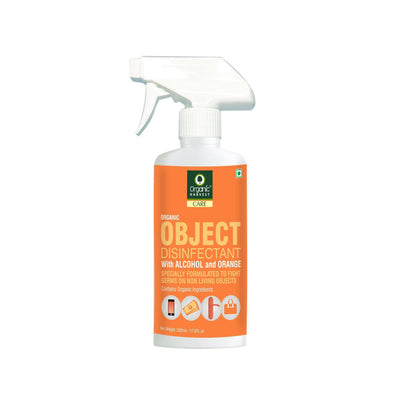 Organic Harvest Objects Disinfectant with Alcohol and Orange, Contains Organic Ingredients, Specially formulated to fight Germs on Non Living Objects, 500 ml - MANERAA