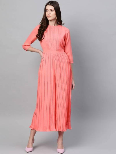 Pleated Jumpsuit - MANERAA