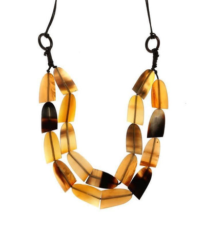 Raisin And Wood Necklace Artificial Fashion Jewellery For Women Yellow Color - MANERAA