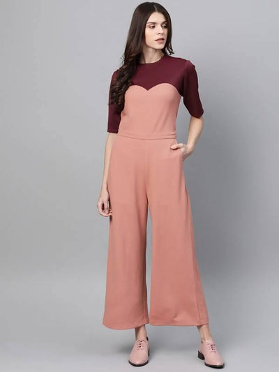Women's Color-Block Jumpsuit - MANERAA
