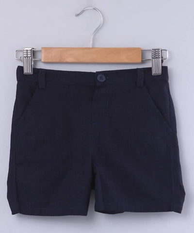Beebay Cotton Linen Bermuda Shorts - MANERAA