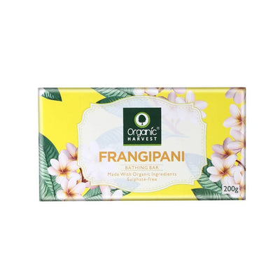 Organic Harvest Frangipani Bathing Bar, 200g - MANERAA