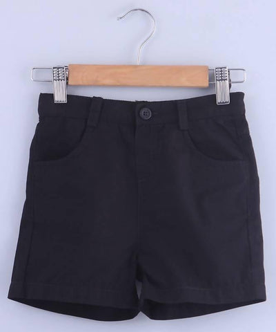 Beebay Black Bermuda Shorts - MANERAA