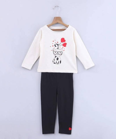 Beebay Kitty T-Shirt And Legging Set - MANERAA