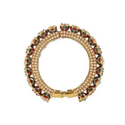 Kundan Bangle Artificial Fashion Jewellery For Women Multi Color - MANERAA