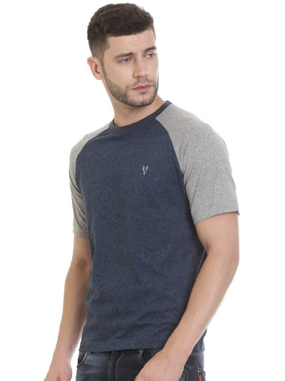 Blue Colour Round Neck Half Slevee T-shirts - MANERAA