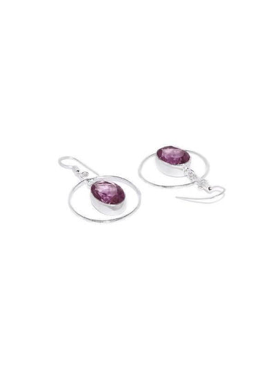 Alloy And Artificial Stones Drop Earrings Artificial Fashion Jewellery For Women Purple Color - MANERAA