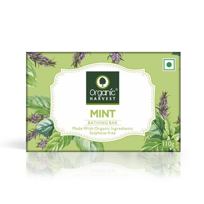 Organic Harvest Mint Bathing Bar, 110g - MANERAA