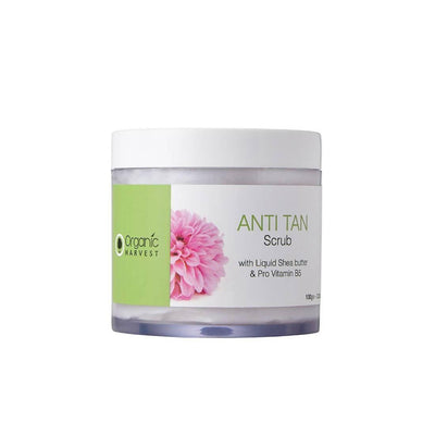 Organic Harvest Anti Tan Scrub, 100g - MANERAA