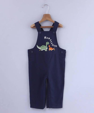 Dinosaur  Embroidered Dungaree - MANERAA