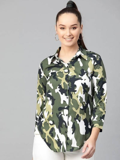 Women's Women's Military Shirt Top - MANERAA