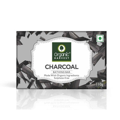 Organic Harvest Charcoal Bathing Bar, 110g - MANERAA