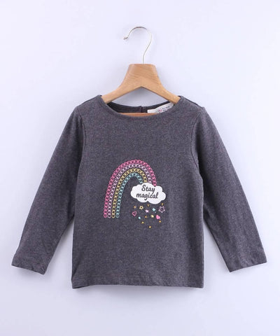 Rainbow Embroidered T-Shirt - MANERAA
