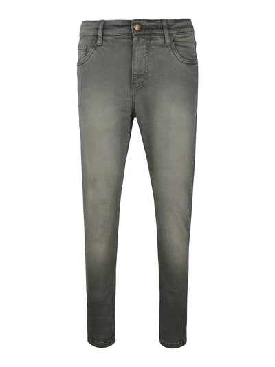 Green Colour Slim Fit Mid Rise Streatch Jeans - MANERAA