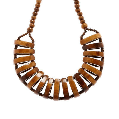 Raisin And Wood Necklace Artificial Fashion Jewellery For Women Brown Color - MANERAA