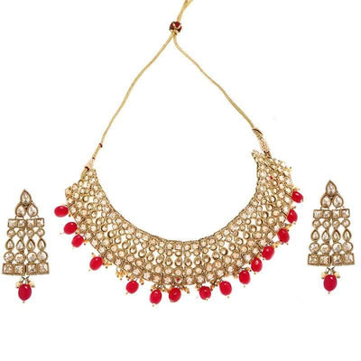 Imli Street Kundan Necklace And Earring Set Artificial Jewellery For Womens And Girls - MANERAA