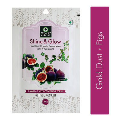 Organic Harvest Shine & Glow Face Sheet Mask, 20g - MANERAA