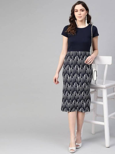 Women's Fitted Midi Dress - MANERAA