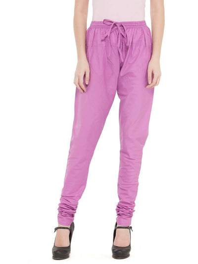 Women Cotton Mauve Churidar - MANERAA