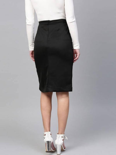 Women's Solid Ruffle Skirt - MANERAA