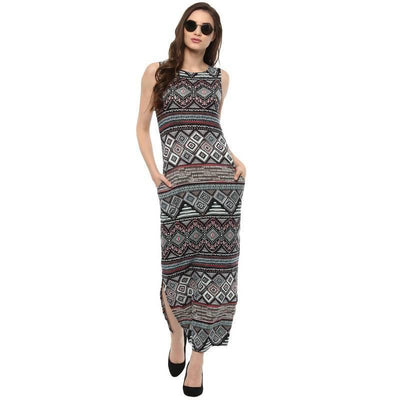 Women's Women's Multi Printed Maxi Dress - MANERAA