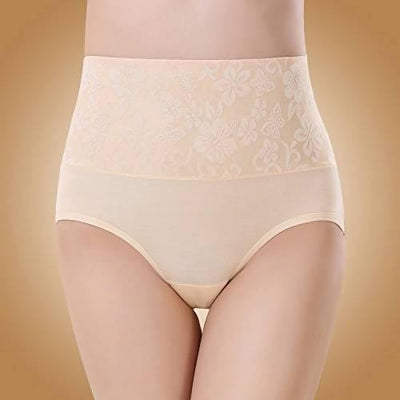High Waist Women Lace Panty-Colour nude - MANERAA