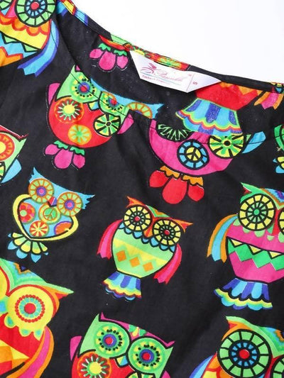 Women's Owl Print Top - MANERAA