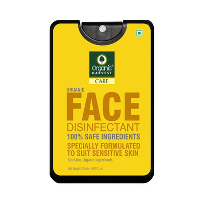 Organic Harvest Face Disinfectant Mist, 100% Safe Ingredients, Organic Ingredients, for Sensitive Skin, 20 ml - MANERAA