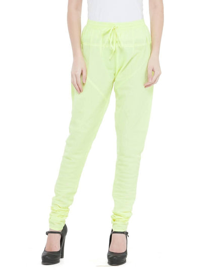 Women Cotton Lime Churidar - MANERAA