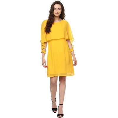 Women's Women's Cape Sleeve Dress - MANERAA