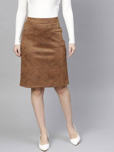 Women's Suede A-Line Skirt - MANERAA