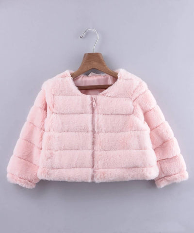 Faux Fur Short Jacket - MANERAA