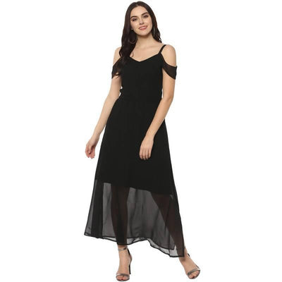 Women's Women's Solid Drop Sleeves Maxi Dress - MANERAA