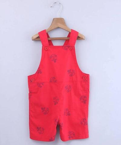 Beebay Anchor Embroidered Dungaree - MANERAA