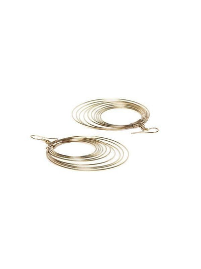 Alloy Drop Earrings Artificial Fashion Jewellery For Women Gold Color - MANERAA