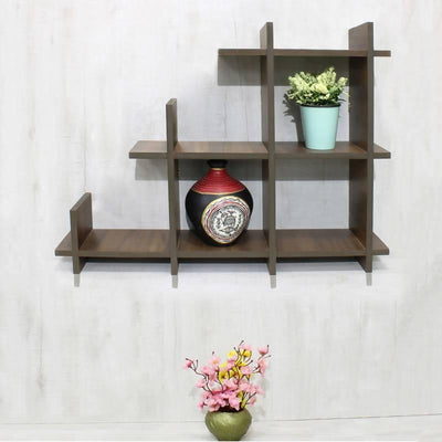 Tuff ESS set of 3 Laminated Wood Wall Shelves ( Rustic) - MANERAA