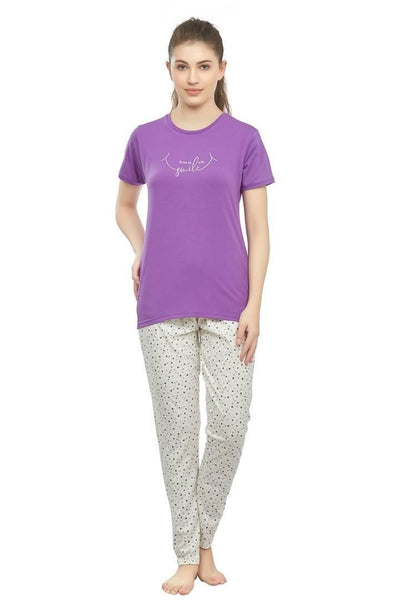 Cotton nightwear set for women - Women's Cotton nightsuit - MANERAA