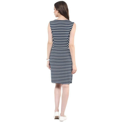 Women's Women's Thick Stripe Pocket Dress - MANERAA